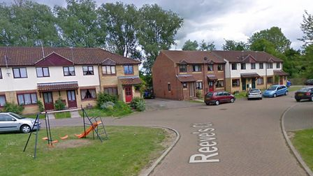 Fire crews were called to kitchen fire in Reeve's Close, Bungay. Photo: Google.