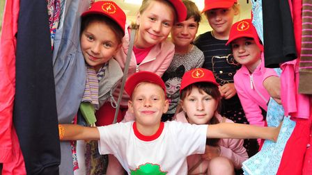 Children from Chernobyl on a visit to Beccles.