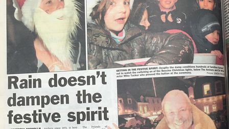 The article covering the switch-on. Photo: Archant.