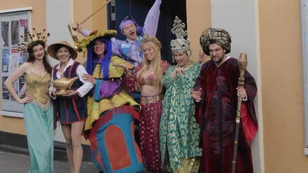 The magic lamp from Aladdin has been hidden somewhere at a shop or business in the town, awaiting to
