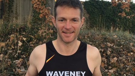 Beccles Turkey Trot winner Lee Cook faces the camera Picture: WAVENEY AC