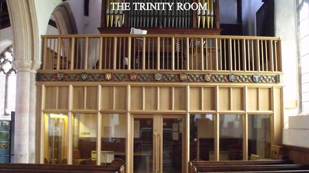 The church room created under the organ loft in Holy Trinity Church, Bungay. Picture: Martin Evans