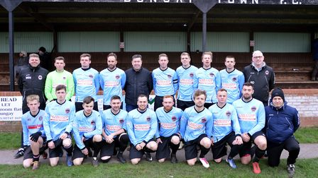 Bungay Town sporting their newly sponsored kit for 2019.