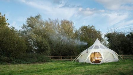 Brambells Glamping, based in Burgh St Peter, has been named as an East of England finalist in the Co