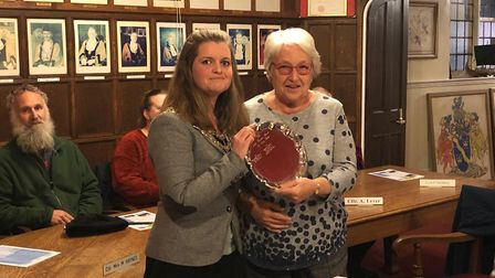 Maureen Saunders was recognised for her role at the Beccles Lido office and was described as the ner