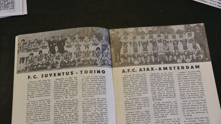 One of rarest programmes in Steve Earl's collection is from the 1973 European Cup Final contested be
