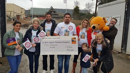 Aiden's Gift charitable trust donated £5,000 to EACH. Photo: Aiden's Gift.