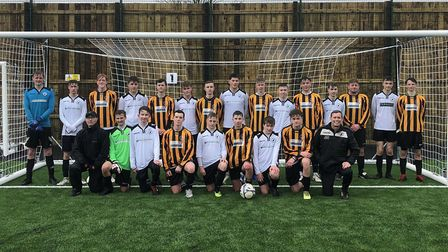 Beccles Town FC's under-16s and under-18's were the first to use the club's new £770,000 3G pitch. P