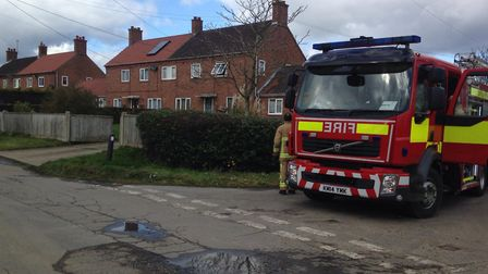 A man died after the blaze at the two-storey home in Ilketshall St Margaret. Picture: GRETA LEVY