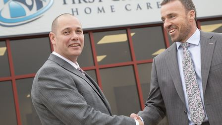 Marcus Green and Phil Turvey Directors First Choice Home Care. PICTURE: Phil Morley Photography