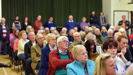 Save All Hallows Trust campaigners attending the public meeting at Ditchingham Village Hall. PICTURE