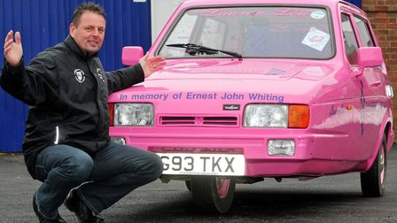 Ernest John Whiting's old Reliant Robin has become synonymous with the fundraising efforts of Lauren