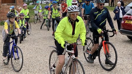 Cyclists start the final 12-miles of the bike ride from Snape MaltingsPictures: Big Bike Ride