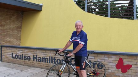 Dave Walden, from Beccles, will cycle 100 miles to raise money for the Louise Hamlton Centre at Jame