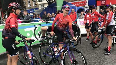 The 2019 OVO Energy Women's Tour cycle race got under way from Beccles. Picture: Victoria Pertusa