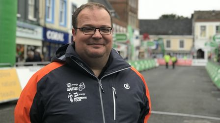 Peter Hodges from SweetSpot, promoters and organisers of the 2019 OVO Energy Women's Tour cycle race