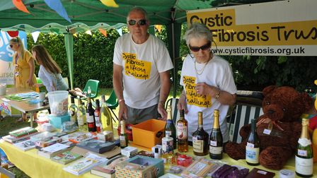 One of the many stalls at the Beccles Hospital Fete - this one is the Cystic Fibrosis Trust.Pictures