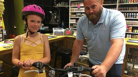 Miya Newman, who was the victim of a hit-and-run collision in Beccles, has been surprised with a new