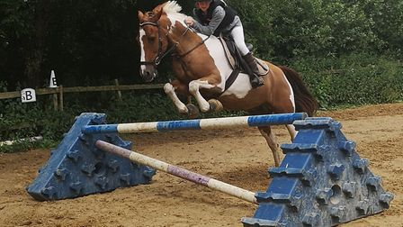 Miya is an avid horse rider, but the accident shook her, and made her lose confidence. Photo: Hannah