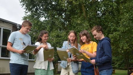 """Sir John Leman Sixth Form students were """"speechless"""" as they opened their results this morning. Phot"""