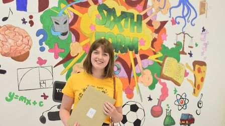 Holly Smith received top grades, celebrating two A*s and an A. She will study Illustration at the No