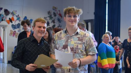 Theo Bellaby and Connor Hargreaves didn't expect such fantastic grades, and hope to go on to become