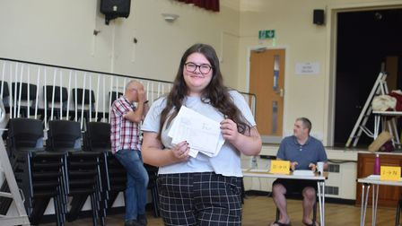Katie Kerridge, from Bungay High School, had amazing grades with 9s and 8s across the board. Photo: