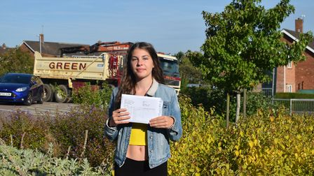 Bungay High School's Emma Louise Rusted was proud to have received four 9s, three 8s, a 7, a 6, and