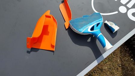 The newly installed Ping Pong tables were damaged within a week. Photo: Bob Prior