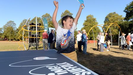 Children enjoyed the official launch of the Ping Pong tables. Photo: Warren Page / SCC