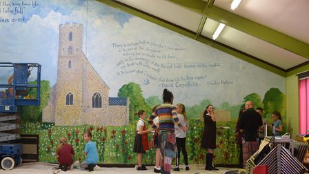 The mural was worked on by children of all ages from Blundeston CEVCP school. Photo: Matthew Nixon