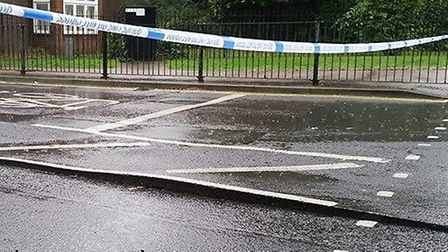 """One driver said peeled up tarmac in Beccles """"could cause damage to car tires."""" Photo: David Walker"""