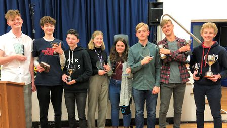 Students at SET Beccles School were presented with awards for their achievements in academic subject