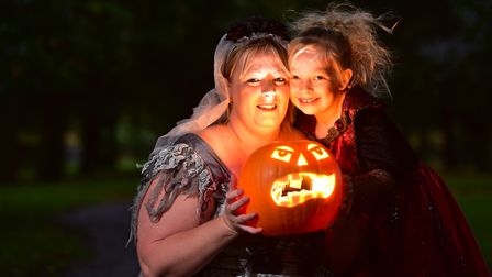 Yvette Tackley and her daughter Yazmin at the Launch of Beccles Pumpkin festival.PHOTO: Nick Butcher