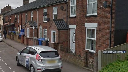 Gresham Road in Beccles, where a mother was sexually assaulted in front of her child. Photo: Google