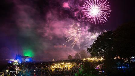 Record crowds turned out for the fireworks at Heveningham Hall on November 2. Picture: Alex Parnell.