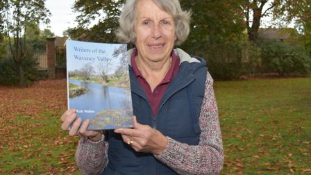 Ruth Walton with the new book - Writers of the Waveney Valley. Picture: Mick Howes