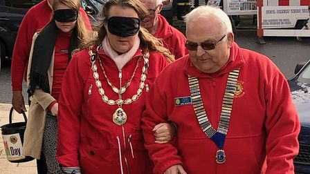 From left to right: Beccles Mayor Andrea Downes and Beccles & District Lions President Chris Eglingt