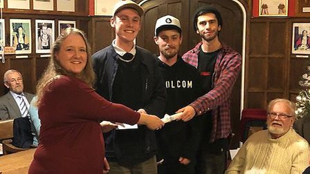 The Eileen Crisp award for youth went to the Beccles Skatepark Community. Photo: Beccles Town Counci