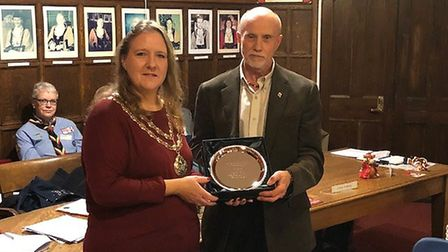 The Robert Ellwood Award for outstanding service to the community went to John Fisk, a Beaver leader