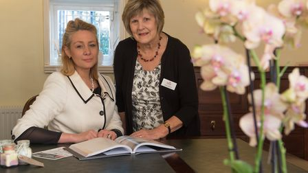 Lucy Coote and Wendy Meyhew of Rosedale Funeral Home Beccles. Photo: Steve Adams
