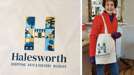 A new town logo has been unveiled for Halesworth in Suffolk, with the hopes of improving footfall to