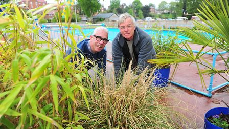 Shaun Crowley and Graham Norgate prepare the Beccles Lido ready for the new 2015 season.