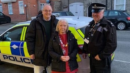 """Town mayor Sue Collins said: """"I can see for myself the good work that the police are carrying out in"""