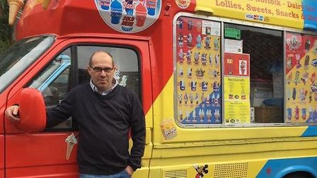 Craig Trickett, from Earsham, has temporarily re-purposed his three ice cream vans to provide a fres