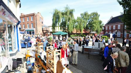 An antiques street market in Beccles in busier times. Credit: Nick Butcher