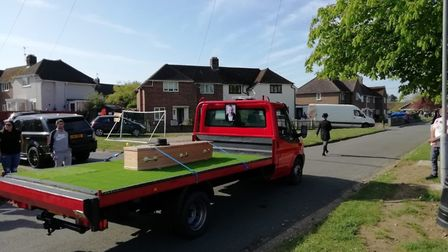 Loving his cars and especially his flat-bed trucks, Mr Caley's daughters said he had told them he di