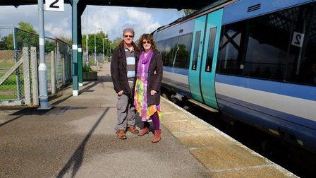 Robert and Brenda Tungatt who are members of the Beccles station adopters team.