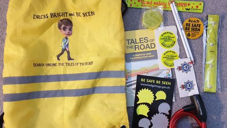 Arthur was left with a Lego car set, an SNT bag, and reflective stickers to keep him safe on his new