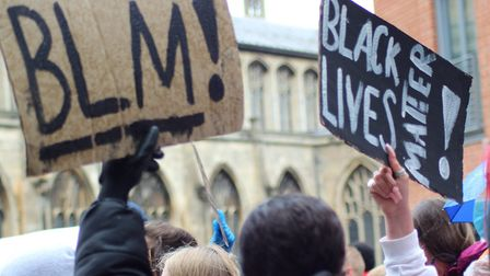 Black Lives Matter protest at The Forum in Norwich on Sunday, June 7, 2020. Picture: Eloise Ray